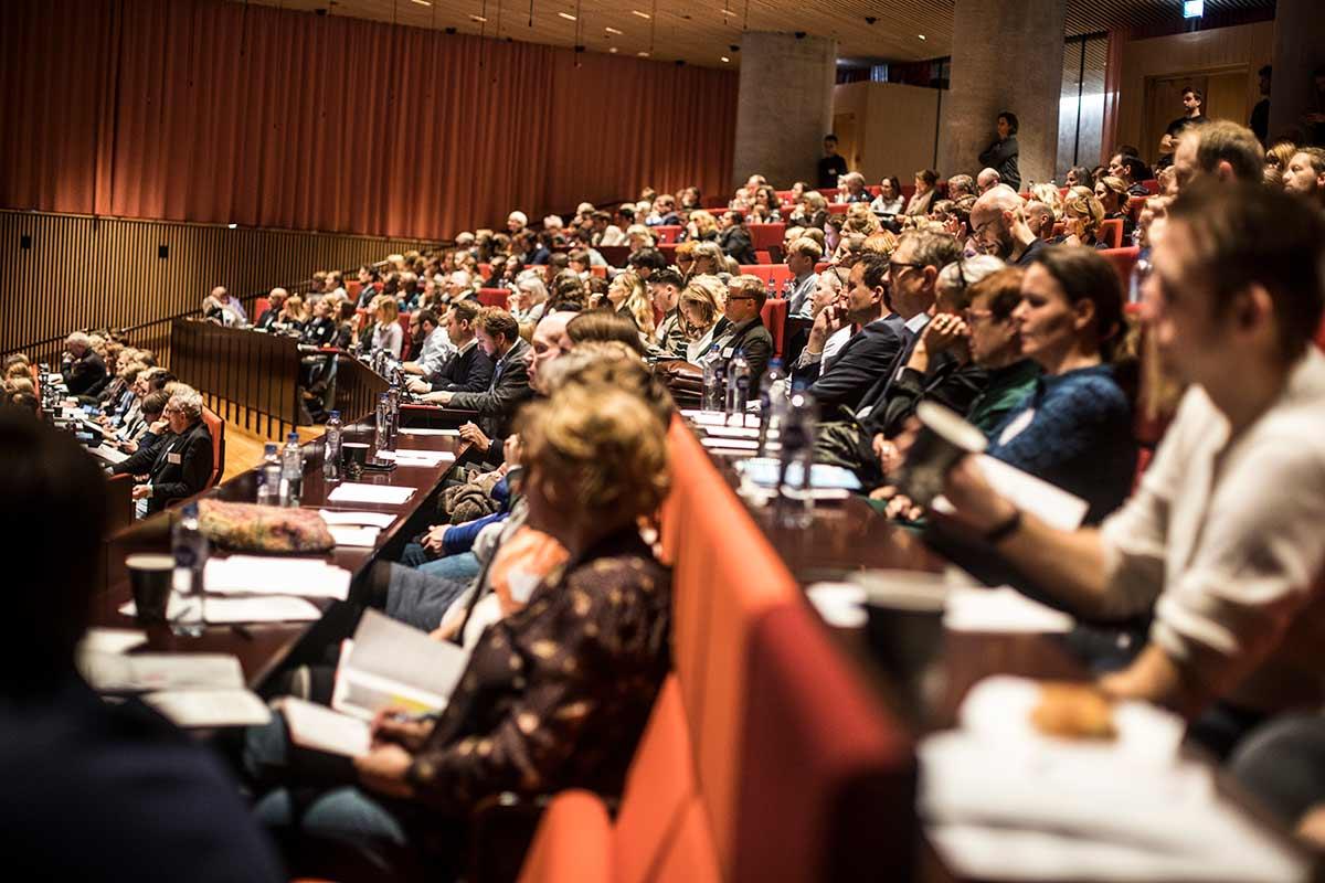 Publikum til konference om sundhedsinnovation. Foto: Jesper Rais