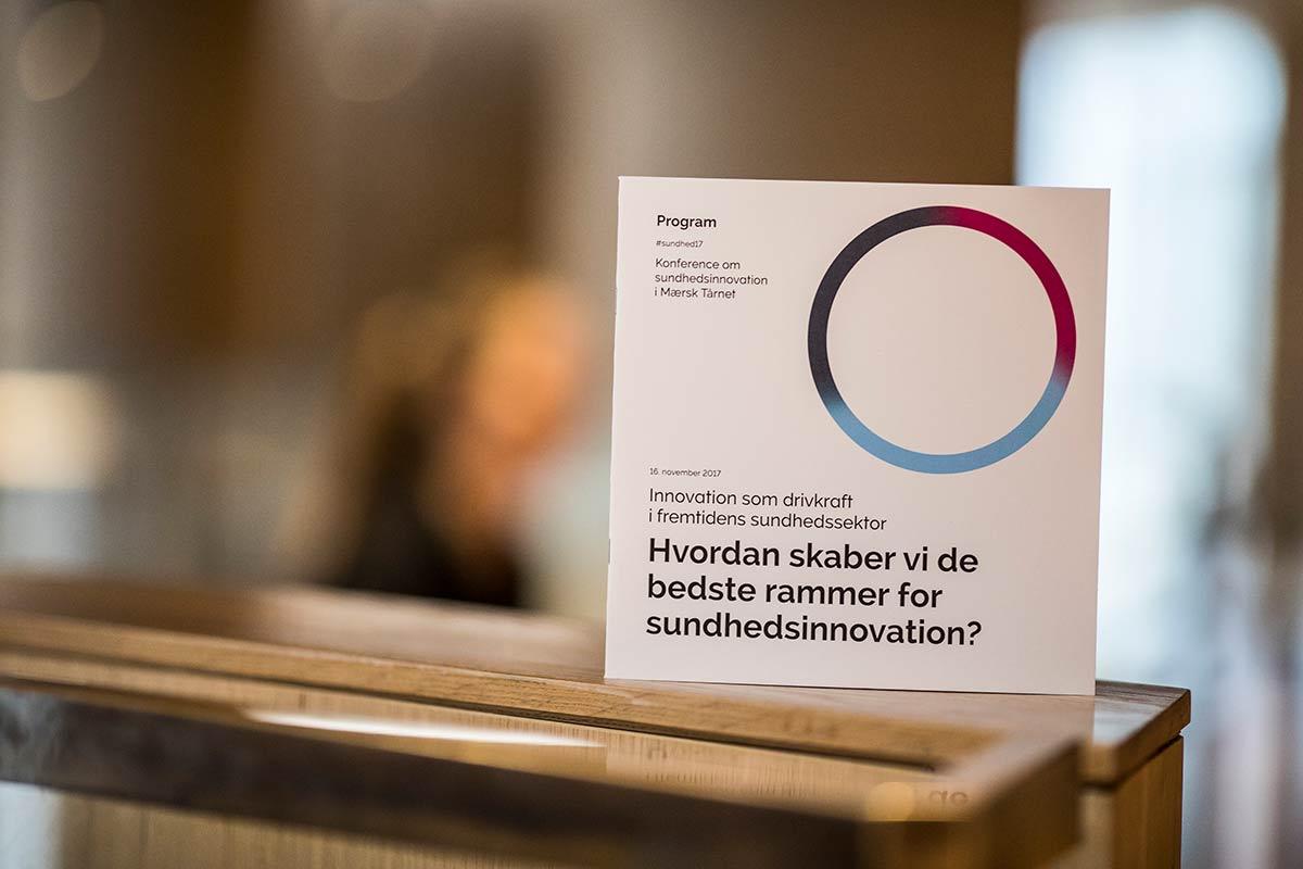 Program: innovation som drivkraft i fremtidens sundhedssektor. Foto: Jesper Rais