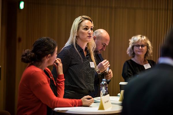 Konference: Paneldebat om værdibaseret styring. Foto: Jesper Rais