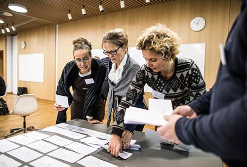 Konference workshop om sundhedsdata. Foto: Jesper Rais
