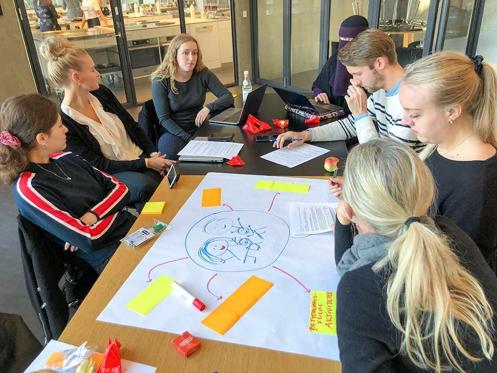 Cocreation workshop studerende i gruppearbejde