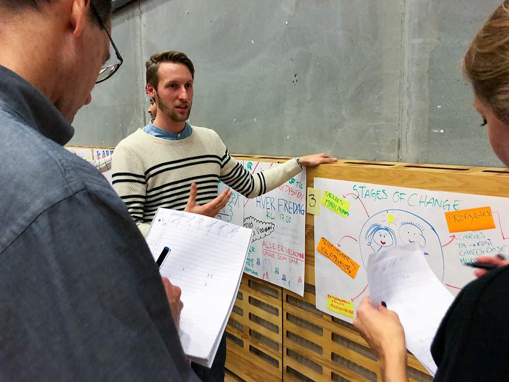 Cocreation workshop - studerende fremlægger idéer