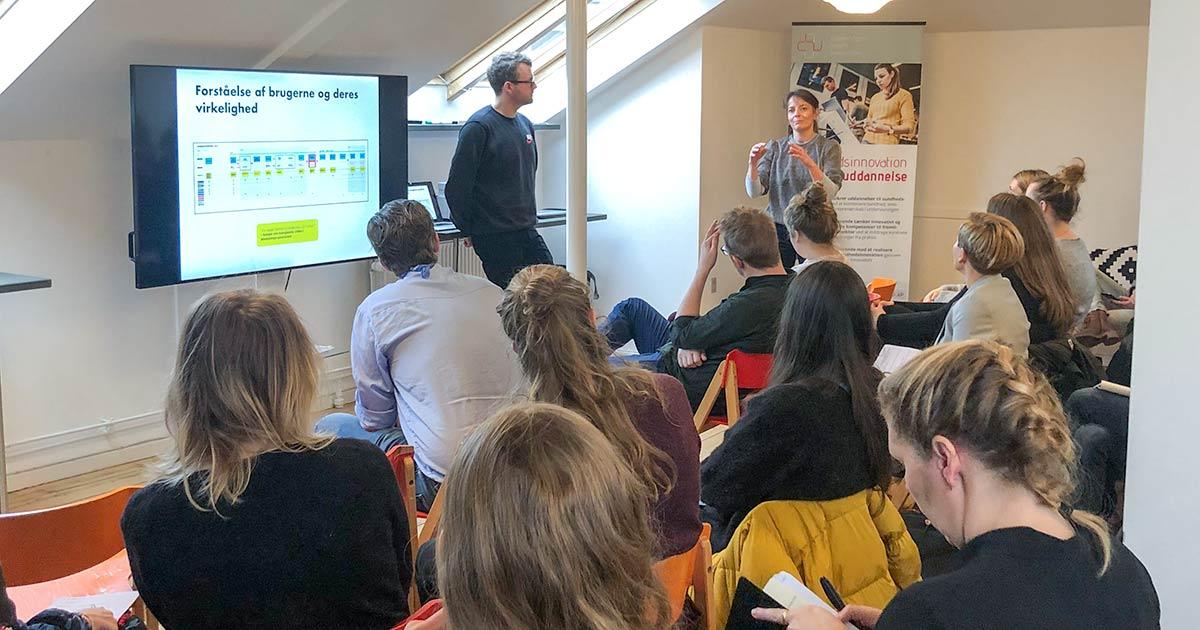 CHI Morgen om co-creation - oplægsholderne diskuterer med publikum