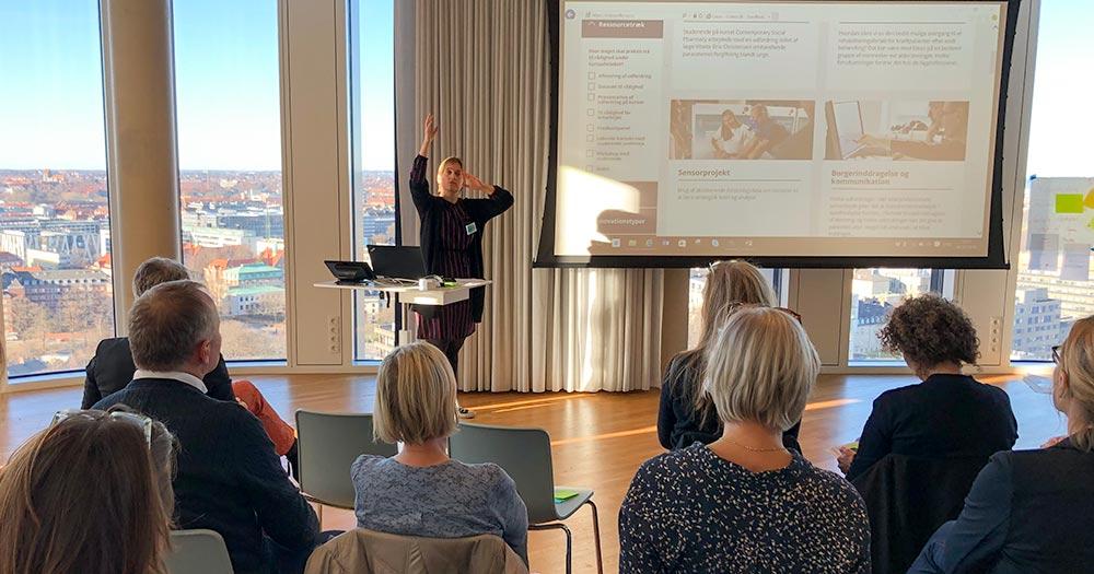 Nina Riis præsenterer Cobox til NSU arrangement