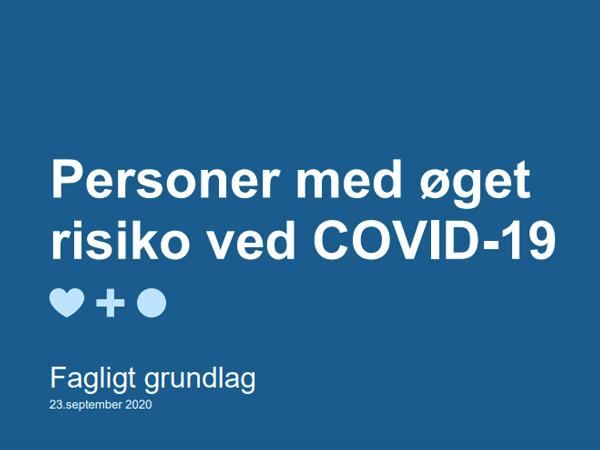 Personer med øget risiko ved COVID-19